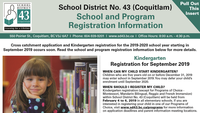 SD43 Registration, Program of Choice and Cross Catchment Starts Soon!