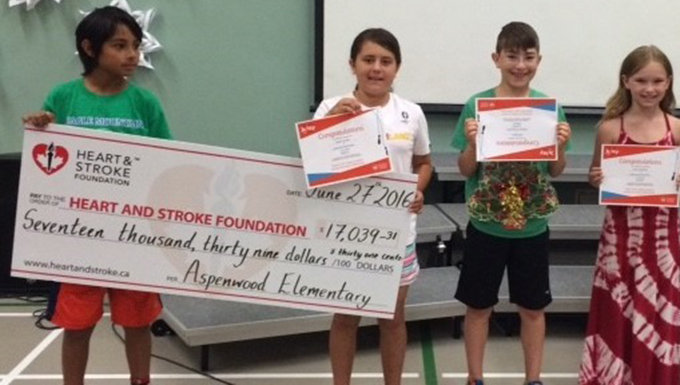 Aspenwood Elementary leads all SD43 schools in fundraising for Jump Rope for Heart program