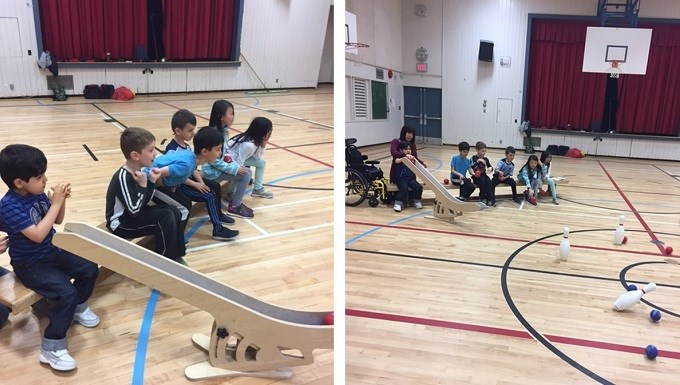 Boccia introduced at Leigh Elementary