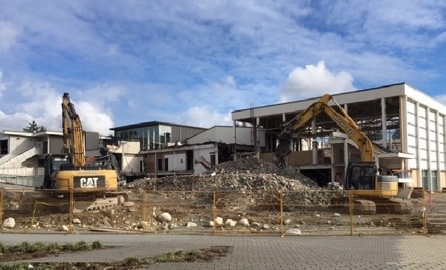 Deconstruction of old Centennial Secondary continues