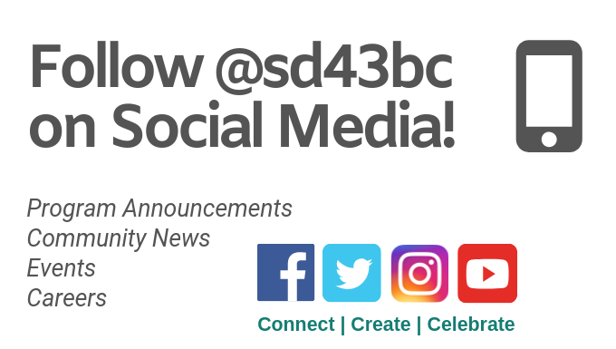 Follow @SD43BC on Social Media!
