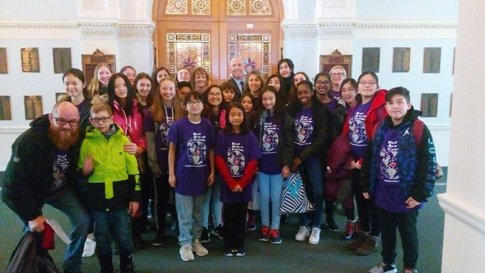 Banting Middle School students travel to Victoria for RAC proclamation!