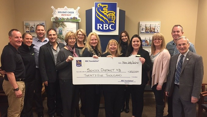 SD43 receives $25,000 RBC Learn to Play grant