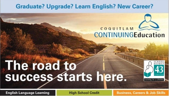 Register now for SD43 Coquitlam Continuing Education courses and programs