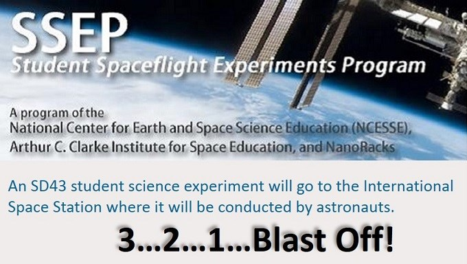 SD43 to send student-designed experiment to space