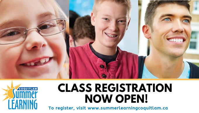 Summer Learning Class Registration Starts Soon!