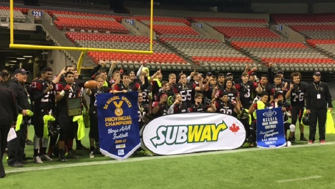 Terry Fox Secondary captures provincial football championship