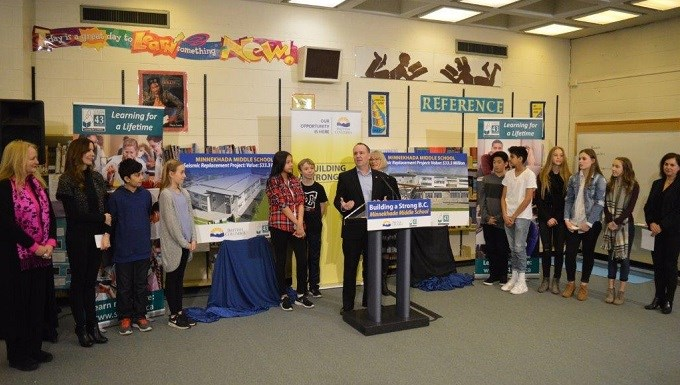 SD43 receives $33.3 million for a new Minnekhada Middle School