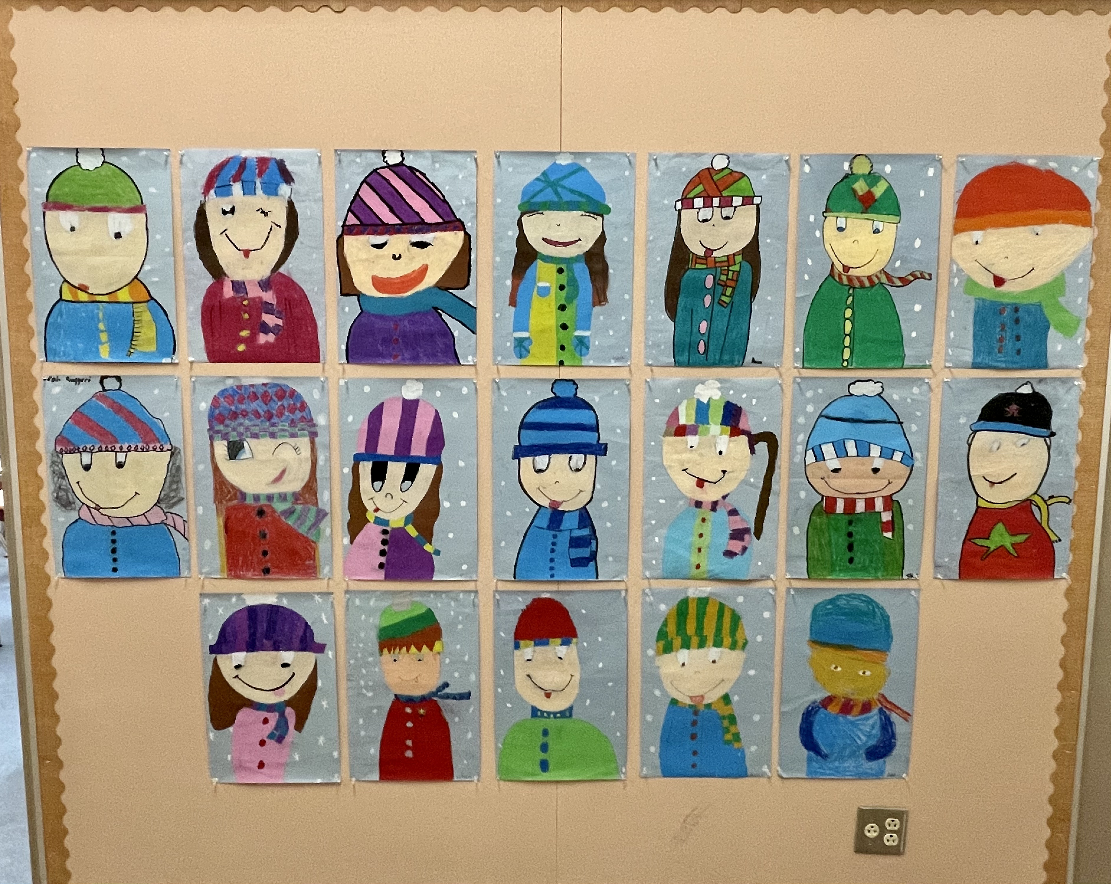 Pastel Portraits by Mrs. Rogers class
