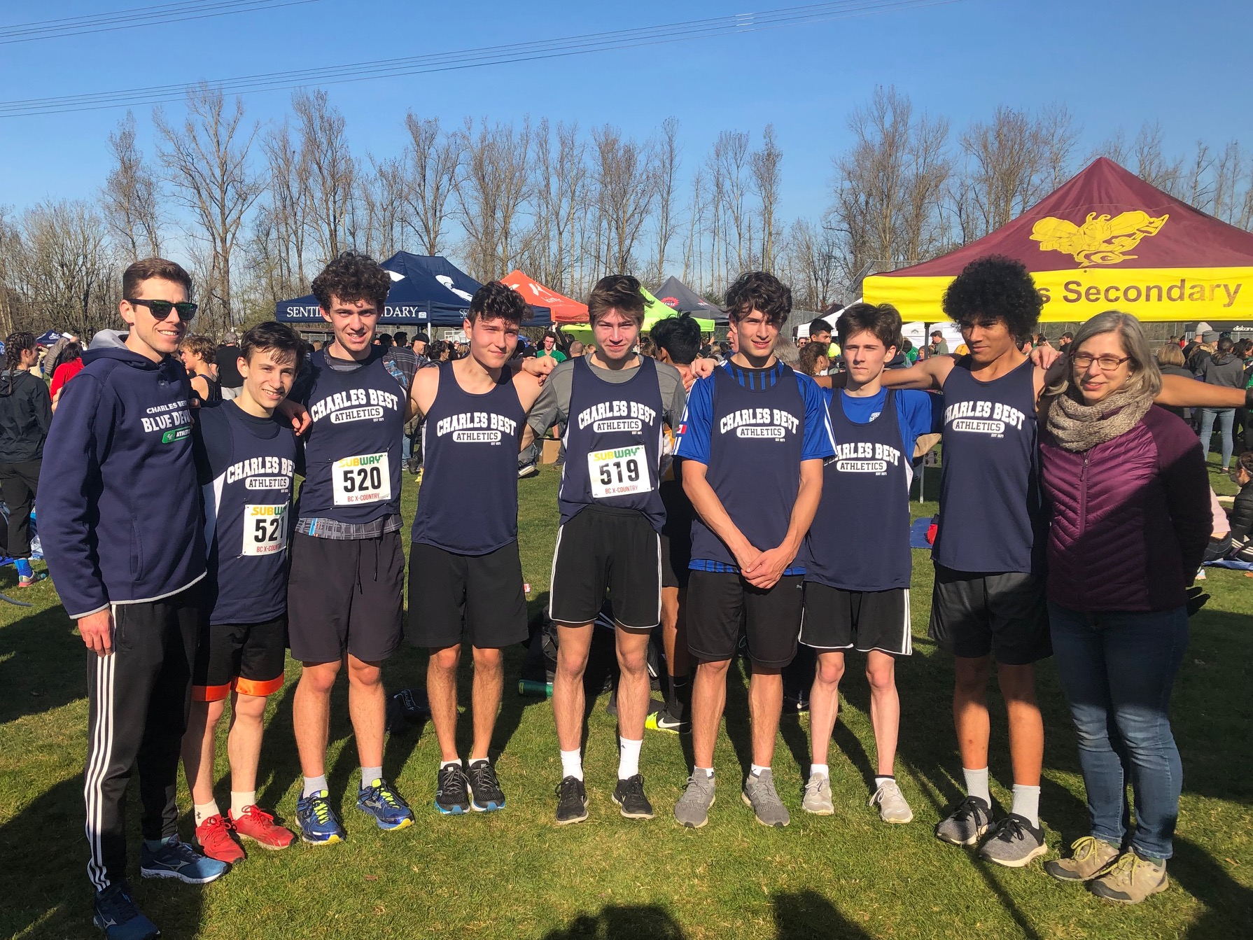 Senior Boys Cross Country Team