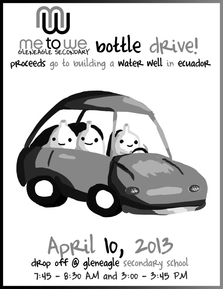 Bottle Drive Flyer