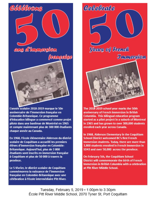 50yrs of French Immersion in SD43-Feb 5
