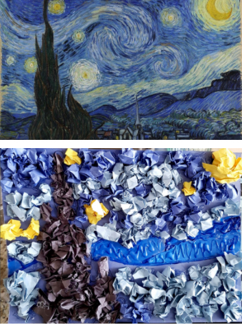 """A Walk through the Masters"" - Starry Night"