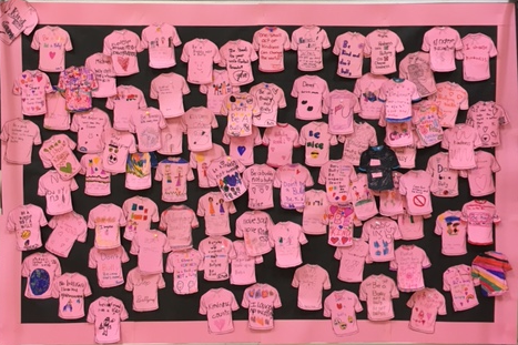 Pink shirts by Students