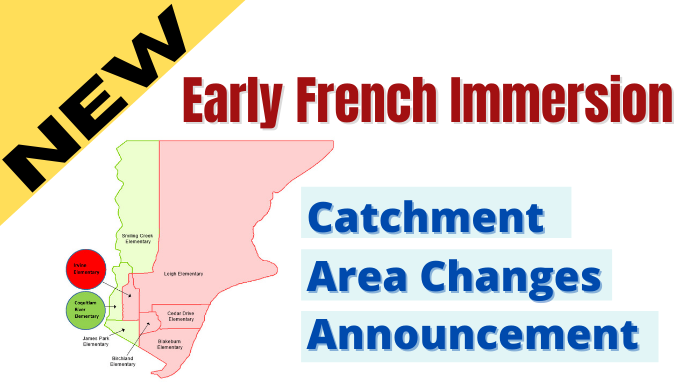 Early French Immersion Catchment Area Changes