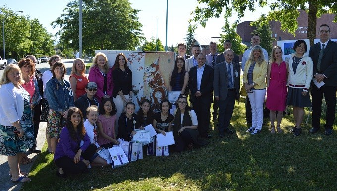 SD43 and TELUS unveil student-designed artwork in Port Coquitlam