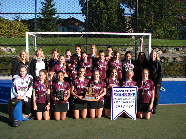 Heritage Woods Girls Field Hockey team won the Fraser Valley Championships