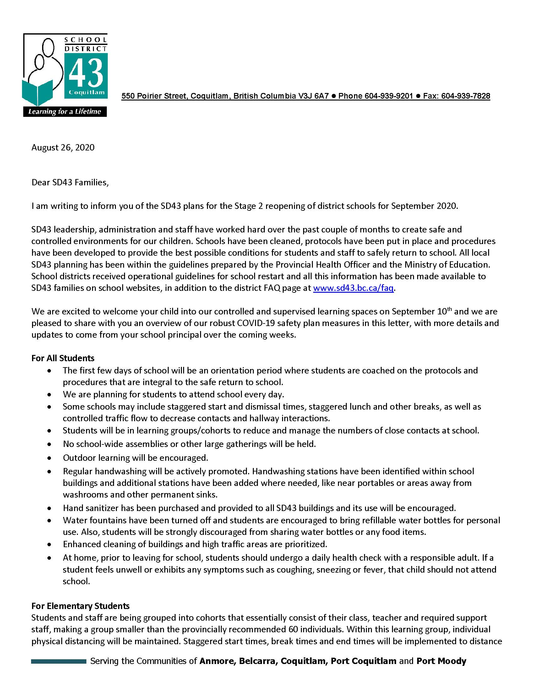 Superintendent Letter to Parents-Guardians re SD43 September 2020 08 26 2020_Page_1.jpg