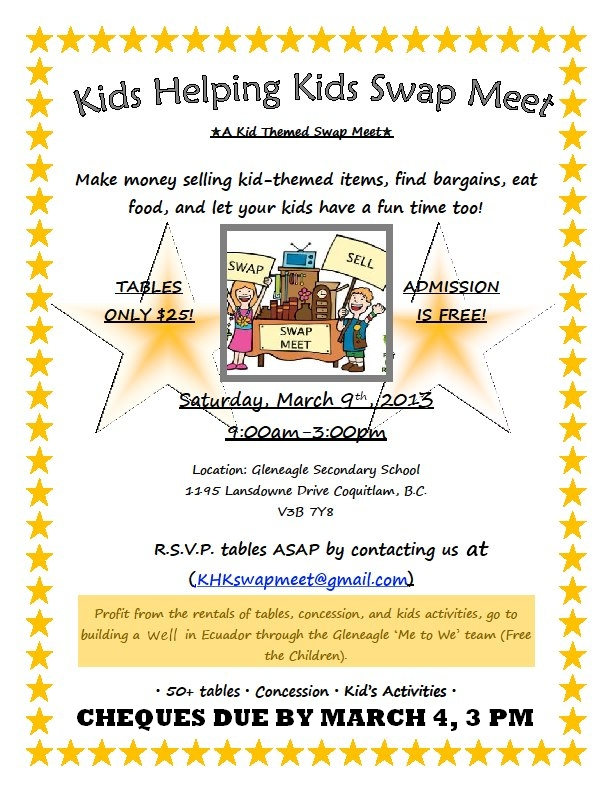 Kids Swap Meet Mar 9th