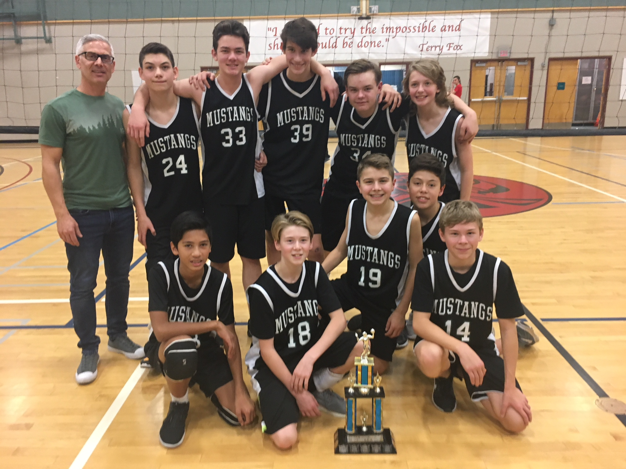 Grade 8 Boys Volleyball Champions