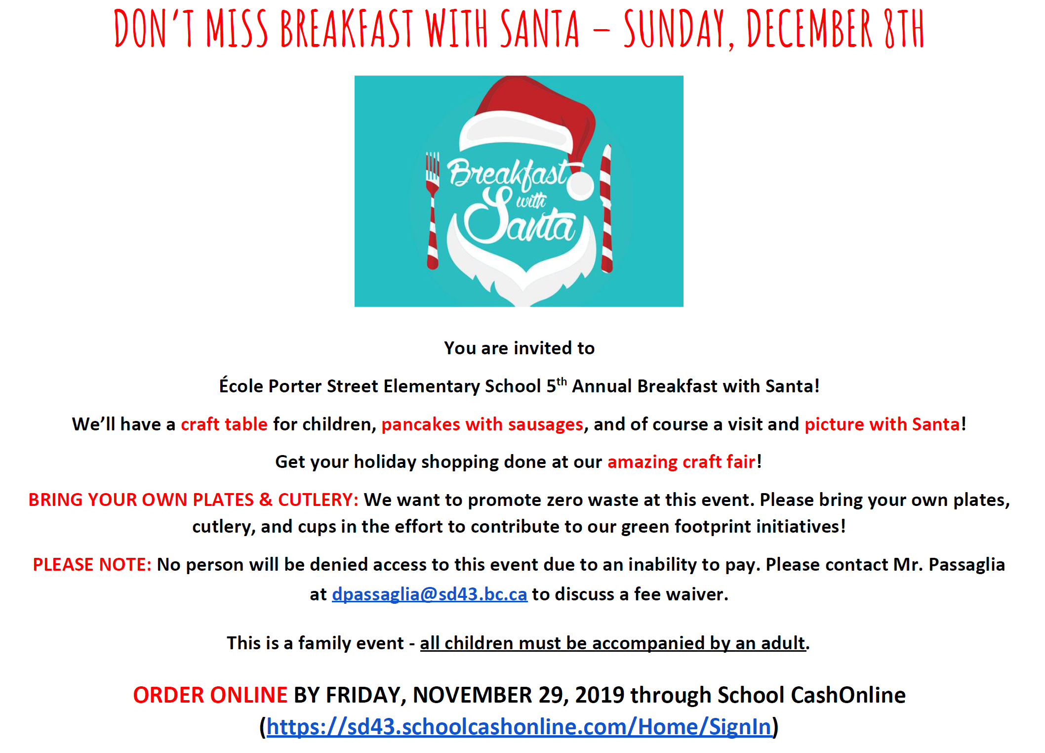 Breakfast with Santa Flyer - for Sun Dec 8, 2019.png
